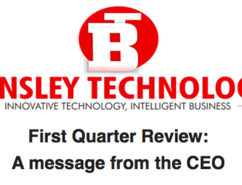 First Quarter Review: A message from the CEO