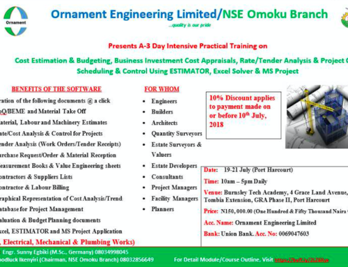 A-3 Day Intensive Practical Training on Cost Estimation & Budgeting